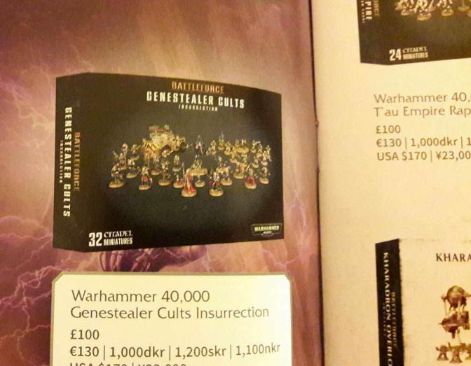Another Xmas bundle box spotted- Genestealer Cults!