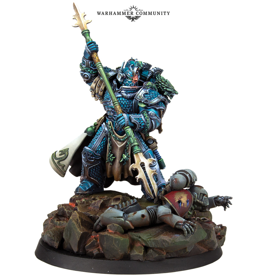 Matt Sterbenz Miniature Painting Forge World Avatar: Primarch Of The Alpha Legion Out At Warhammer